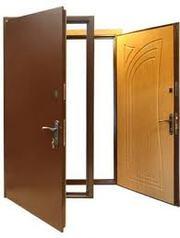 Двери от 1700 грн  бронированные,  с МДФ накладкой,  металлические,  сталь